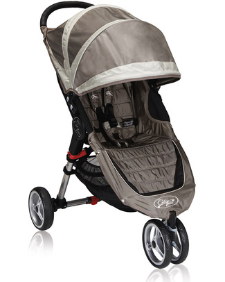 Baby Jogger City Mini™ 3 Baby Stroller - Sand/Stone - Quick Fold Technology - For City Life! Lights Strollers