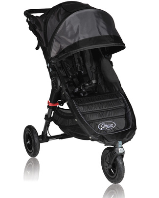 Baby Jogger City Mini™ GT Baby Stroller - Black - Quick Fold Technology - For All Terrains! Lights Strollers