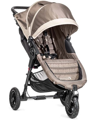 Baby Jogger City Mini™ GT Baby Stroller - Sand/Stone - Quick Fold Technology - For All Terrains! Lights Strollers