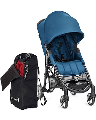 Baby Jogger City Mini™ Zip Baby Stroller - Green Sea + Stroller Bag - 3D Fold Technology - For All Terrains! Lights Strollers
