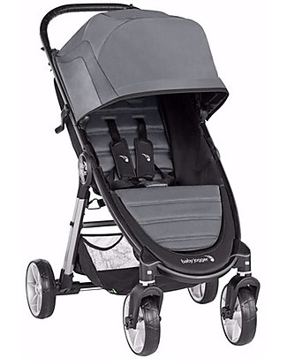 Baby Jogger City Mini 2 Baby Stroller, Slate - 4 Wheels and No Bulk! Lights Strollers