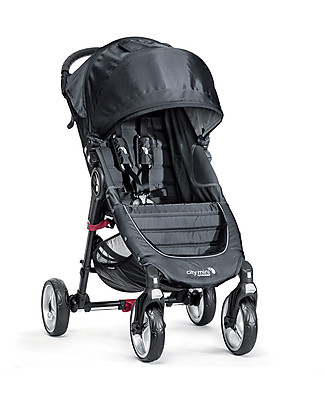 Baby Jogger City Mini 4 Baby Stroller - Charcoal/Denim - Quick Fold Technology - For City Life Lights Strollers