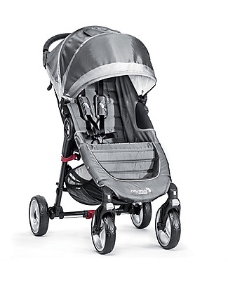 Baby Jogger City Mini 4 Baby Stroller - Steel Grey/Sand - Quick Fold Technology - For City Life! Pushchairs
