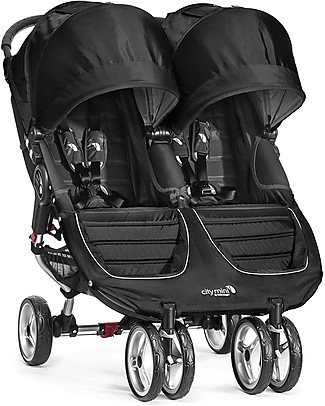 Baby Jogger City Mini Double Baby Stroller - Black/Grey - Quick Fold Technology - For City Life! Double Pushchairs
