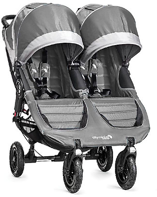Baby Jogger City Mini GT Double Baby Stroller - Steel Grey/Sand - Quick Fold Technology - For All Terrains! Double Pushchairs