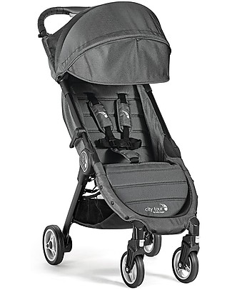 Baby Jogger City Tour Stroller, Charcoal – Light and compact. Suitable as hand luggage! Lights Strollers