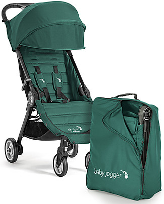 Baby Jogger City Tour Stroller, Juniper – Light and compact. Suitable as hand luggage! Pushchairs