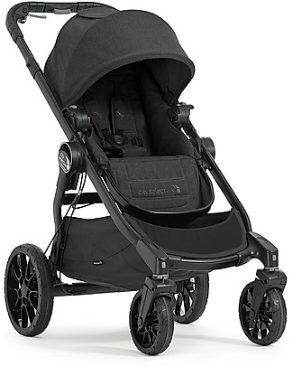 Baby Jogger Convertible Single/Double/Triple Stroller City Select Lux- Granite Double Pushchairs