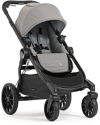 Baby Jogger Convertible Single/Double/Triple Stroller City Select Lux- Slate Pushchairs