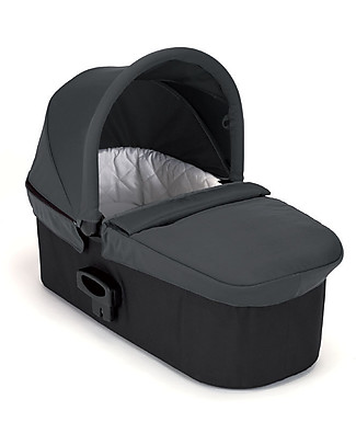 Baby Jogger Deluxe Pram - Charcoal - for Mini City 3, Mini City GT, City Elite, Select and Summit X3 - Adaptor Included! Travel Systems