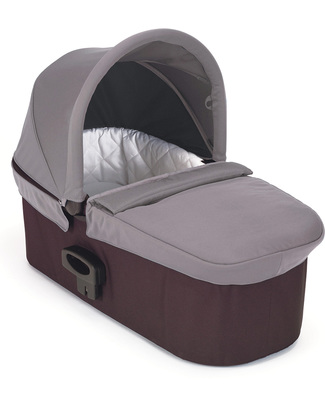 Baby Jogger Deluxe Pram - Gray - for Mini City 3, Mini City GT, City Elite, Select and Summit X3 - Adaptor Included! Travel Systems