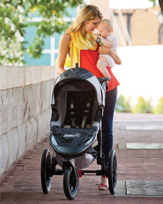 Baby Jogger Summit X3 Baby Stroller - Black/Gray - Perfect For Jogging - Great On All Terrains! Lights Strollers