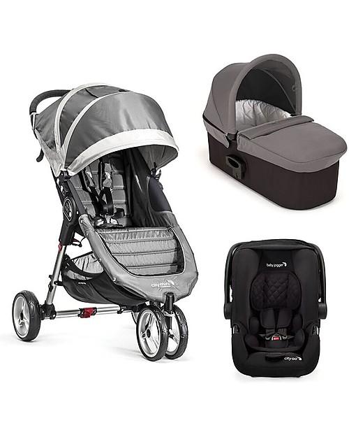 Baby Jogger Travel System Trio City Mini 3 Deluxe, Steel Grey - City ...