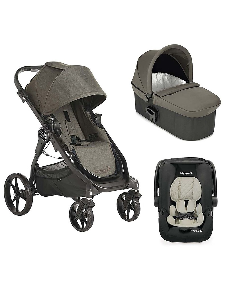 Baby Jogger Travel System Trio City Premier Deluxe Taupe City