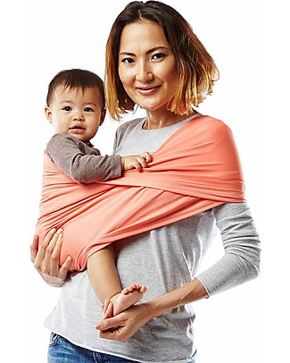 Baby K'tan Ergonomic Baby Carrier 5 in 1 Active, Coral - Easy to wear, slips on like a t-shirt! Baby Slings
