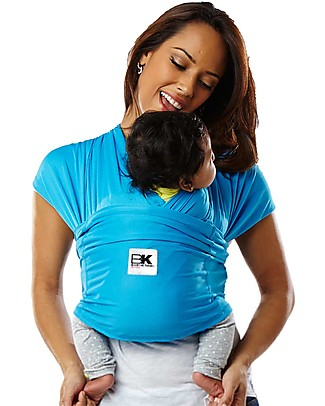 Baby K'tan Ergonomic Baby Carrier 5 in 1 Active, Ocean Blu - Easy to wear, slips on like a t-shirt! Baby Slings