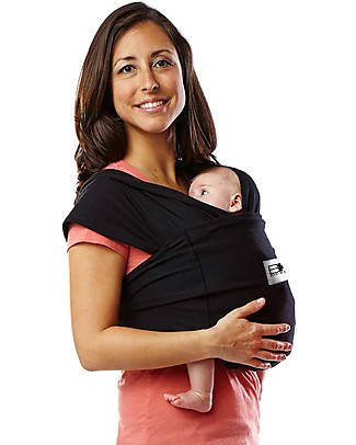 Baby K'tan Ergonomic Baby Carrier 5 in 1, Black - 100% cotton - Easy to wear, slips on like a t-shirt! Baby Slings