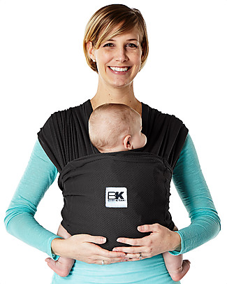 Baby K'tan Ergonomic Baby Carrier 5 in 1 Breeze Breathable, Black - 100% cotton - Easy to wear, slips on like a t-shirt! Baby Carriers