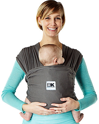 Baby K'tan Ergonomic Baby Carrier  5 in 1 Breeze Breathable, Charcoal - 100% cotton - Easy to wear, slips on like a t-shirt! Baby Slings