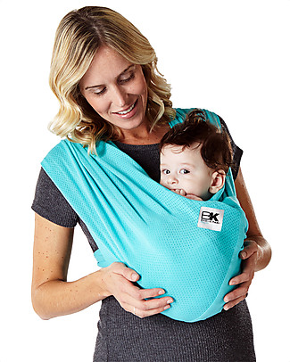 Baby K'tan Ergonomic Baby Carrier 5 in 1 Breeze Breathable, Teal - 100% cotton - Easy to wear, slips on like a t-shirt! Baby Slings
