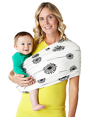 Baby K'tan Ergonomic Baby Carrier 5 in 1, Dandelion - 100% cotton - Easy to wear, slips on like a t-shirt! Baby Carriers