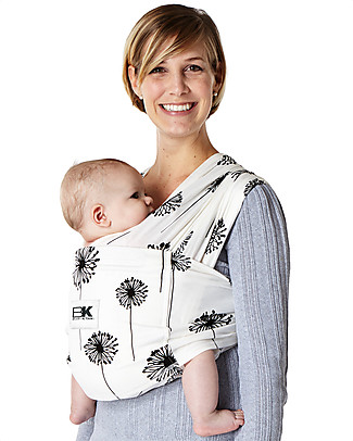 Baby K'tan Ergonomic Baby Carrier 5 in 1, Dandelion - 100% cotton - Easy to wear, slips on like a t-shirt! Baby Slings
