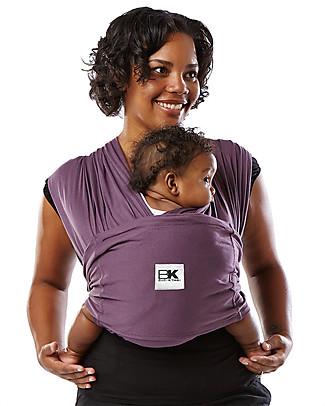 Baby K'tan Ergonomic Baby Carrier 5 in 1, Eggplant - 100% Cotton - Easy to wear, slips on like a t-shirt! Baby Slings