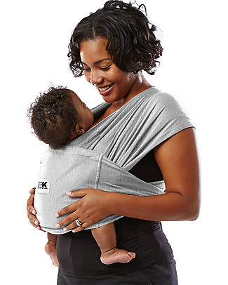 Baby K'tan Ergonomic Baby Carrier 5 in 1, Heather Grey - 100% cotton - Easy to wear, slips on like a t-shirt! Baby Slings