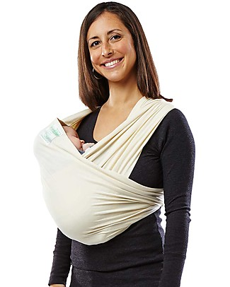 Baby K'tan Ergonomic Baby Carrier 5 in 1, Natural - 100% GOTS Organic Cotton - Easy to wear, slips on like a t-shirt! Baby Slings