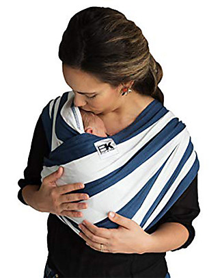 Baby K'tan Ergonomic Baby Carrier 5 in 1, Nautical - 100% cotton - Easy to wear, slips on like a t-shirt! Baby Carriers