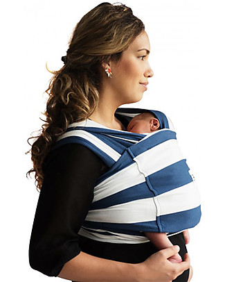 Baby K'tan Ergonomic Baby Carrier 5 in 1, Nautical - 100% cotton - Easy to wear, slips on like a t-shirt! Baby Slings