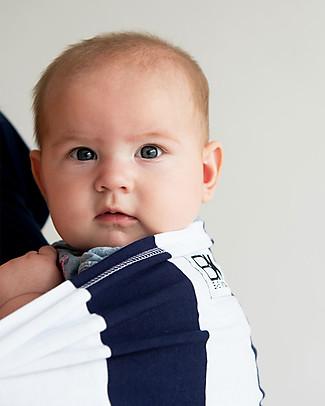 Baby K'tan Ergonomic Baby Carrier 5 in 1, Navy/White Stripe - 100% cotton - Easy to wear, slips on like a t-shirt! Baby Slings