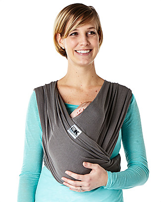 Baby K'tan Ergonomic Baby Carrier  6 in 1 Breeze Breathable, Charcoal - 100% cotton - Easy to wear, slips on like a t-shirt! Baby Carriers