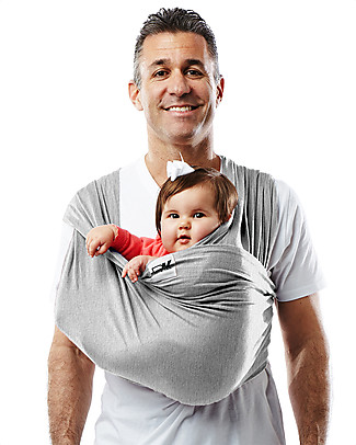 Baby K'tan Ergonomic Baby Carrier 6 in 1, Heather Grey - 100% cotton - Easy to wear, slips on like a t-shirt! Baby Carriers