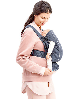 BabyBjörn Baby Carrier Mini 3D Mesh, Anthracite - Breathable, it Dries quickly! Baby Carriers
