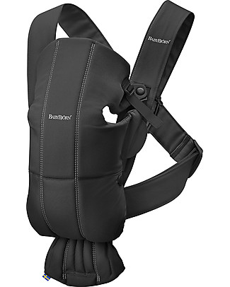 BabyBjörn Baby Carrier Mini, Black - 100% Cotton Baby Carriers
