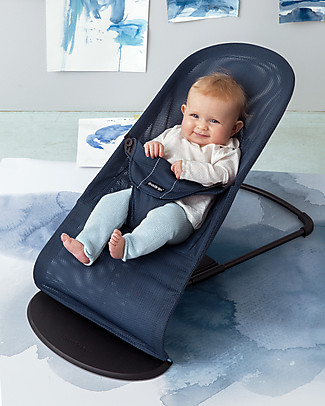 BabyBjörn Bouncer Balance Soft with Mesh Textile, Dark + Light Grey – Up to 2 years! Bouncers