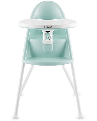BabyBjörn Collapsible High Chair, Aquamarine - Safety Lock and Detachable Tray High Chairs