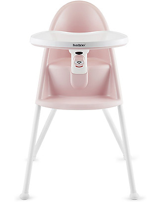 BabyBjörn Collapsible High Chair, Pink - Safety Lock and Detachable Tray High Chairs