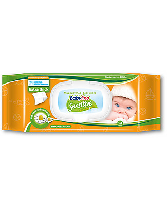 Babylino Baby Wipes Fragrance 54 pieces  Biodegradable Nappies