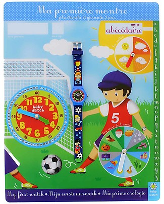 BabyWatch My First Learning Watch - Soccer (suitable from age 3!) Learning Watches