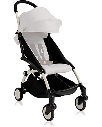 Babyzen Frame for Babyzen Yoyo+ Stroller, White - Includes carry bag, strap and umbrella! Lights Strollers