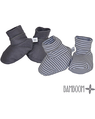 Bamboom Dark Grey Booties - Bamboo and Cotton Slippers