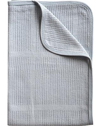 Bamboom La Ninna Mini Soft Stone 100 x 75 cm, Blue - Bamboo + Cotton Bed Sheets