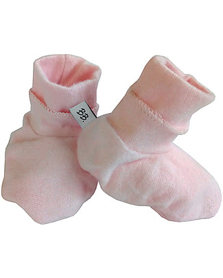 Bamboom Pink Booties - Bamboo and Cotton Slippers