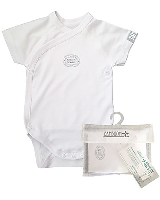 Bamboom Short Sleeves Bodysuit 0-6 months, White - Elasticated organic bamboo Short Sleeves Bodies