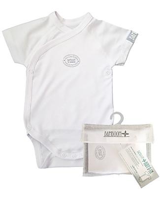 Bamboom Short Sleeves Bodysuit 0-6 months, White - Elasticated organic bamboo Short Sleeves Bodies
