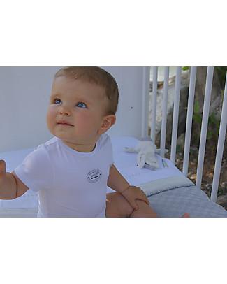 Bamboom Short Sleeves Bodysuit 6-24 months, White - Elasticated organic bamboo Short Sleeves Bodies