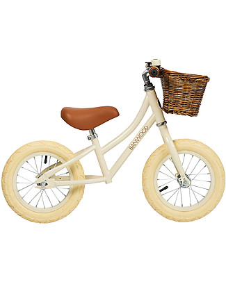 Banwood Balance Bike First Go, Cream - For Girls from 3 to 5 years old!  Balance Bikes