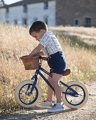 Banwood Balance Bike First Go, Navy Blue - For Kids from 3 to 5 years old! Balance Bikes